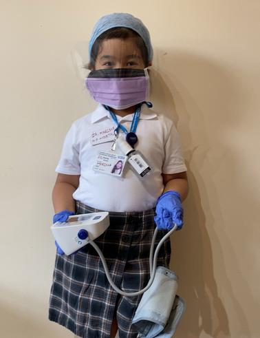 Marisha as a NHS worker
