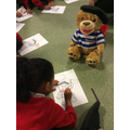 Reception children with our nounours
