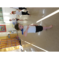 Practicing our balancing skill in P.E