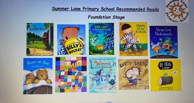 A recommended reading list of books that we recommend that you read to your child at home.