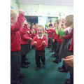 Acting out the story of Palm Sunday