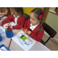 We made cards and pictures for Peppa.