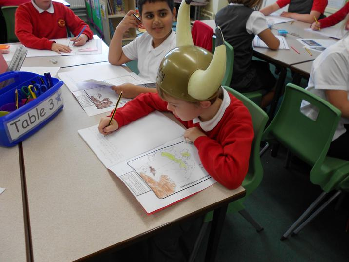 David got to wear the hard working helmet hat during our Topic lesson. Keep working hard everyone!