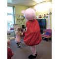 The party finished with another dance with Peppa.