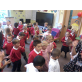 Showing off our best dance moves!