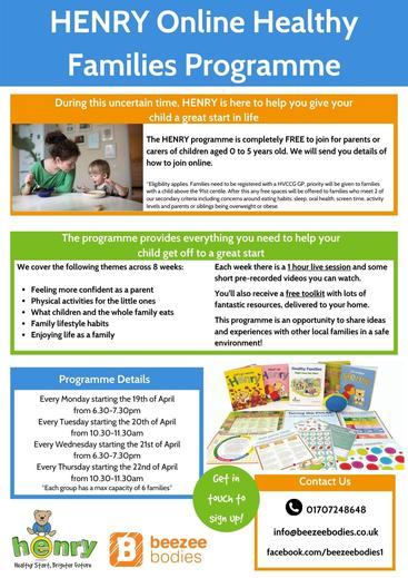 HENRY Online Healthy Families Programme