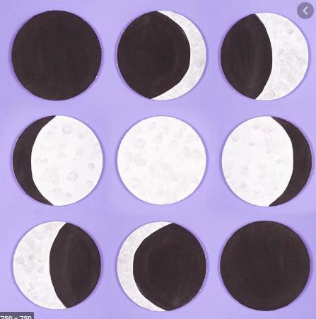 Can you draw/paint the phases of the moon?