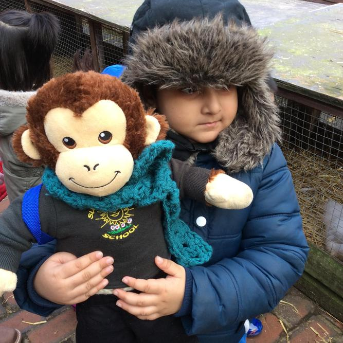 George enjoyed seeing the animals with his friends