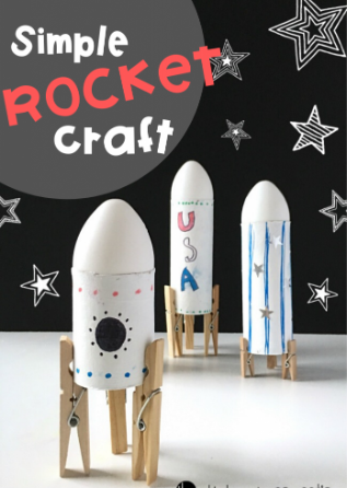 Make a simple rocket using materials in your house