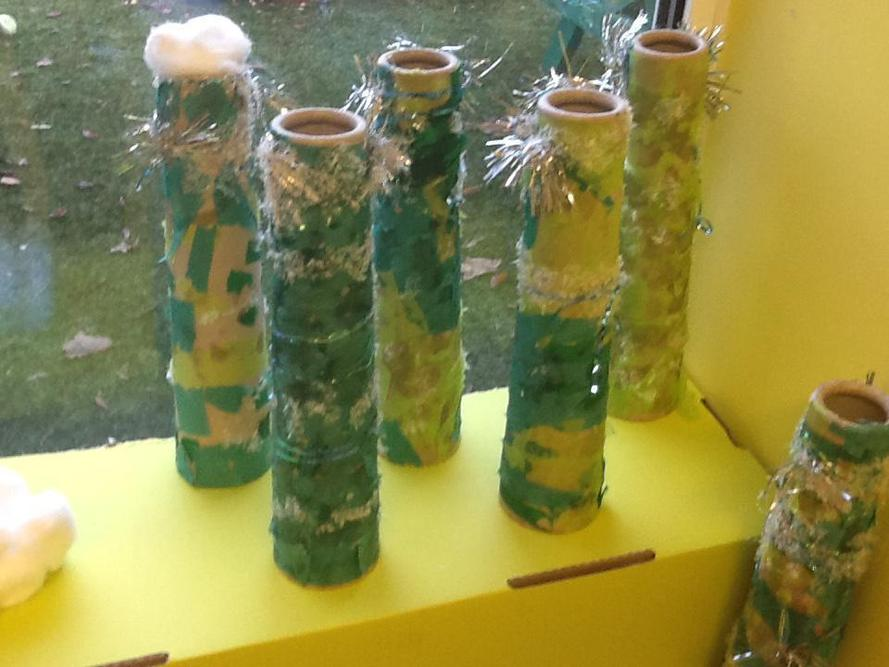 Icy, sparkly winter trees by 2S.