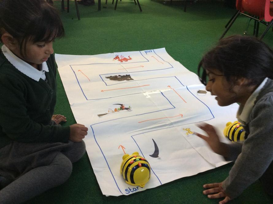 A beebot map