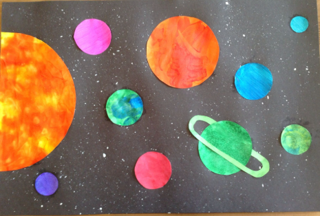 Create and paint the solar system