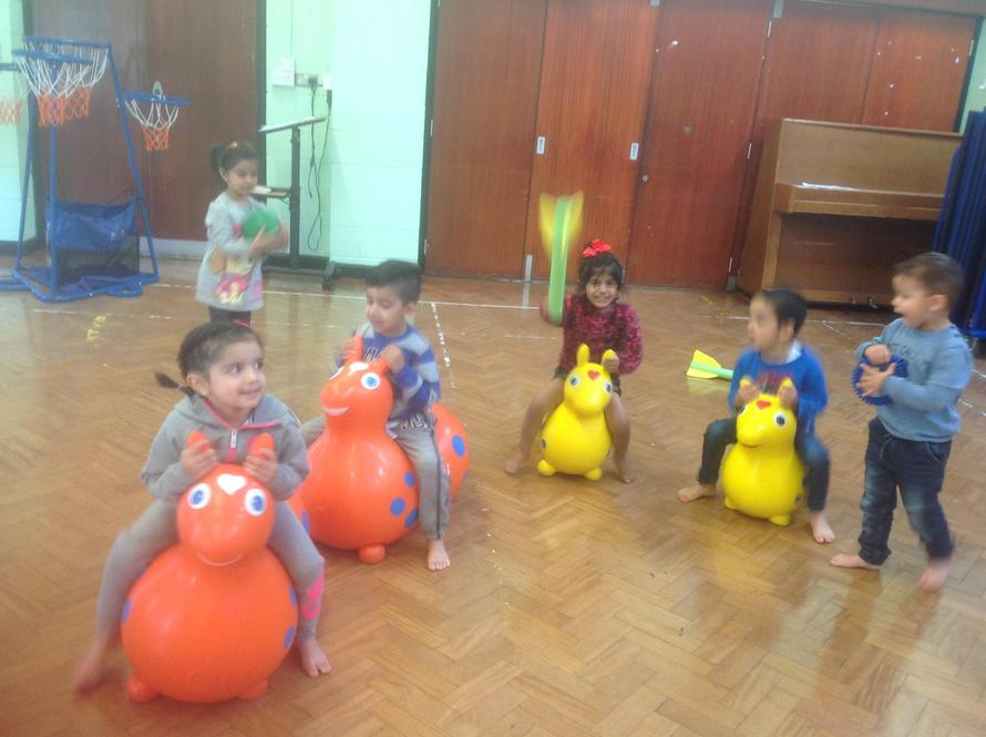 """We had a race on the """"Rody"""" horses in P.E."""