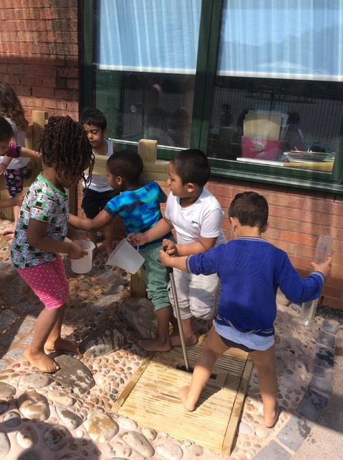 Exploring the new waterplay in Foundation.