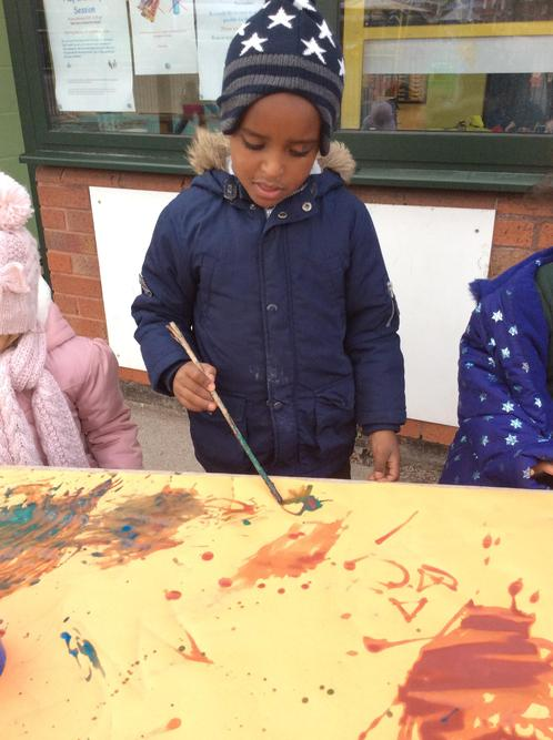 Mark making with sticks