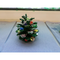 A decorated fir cone