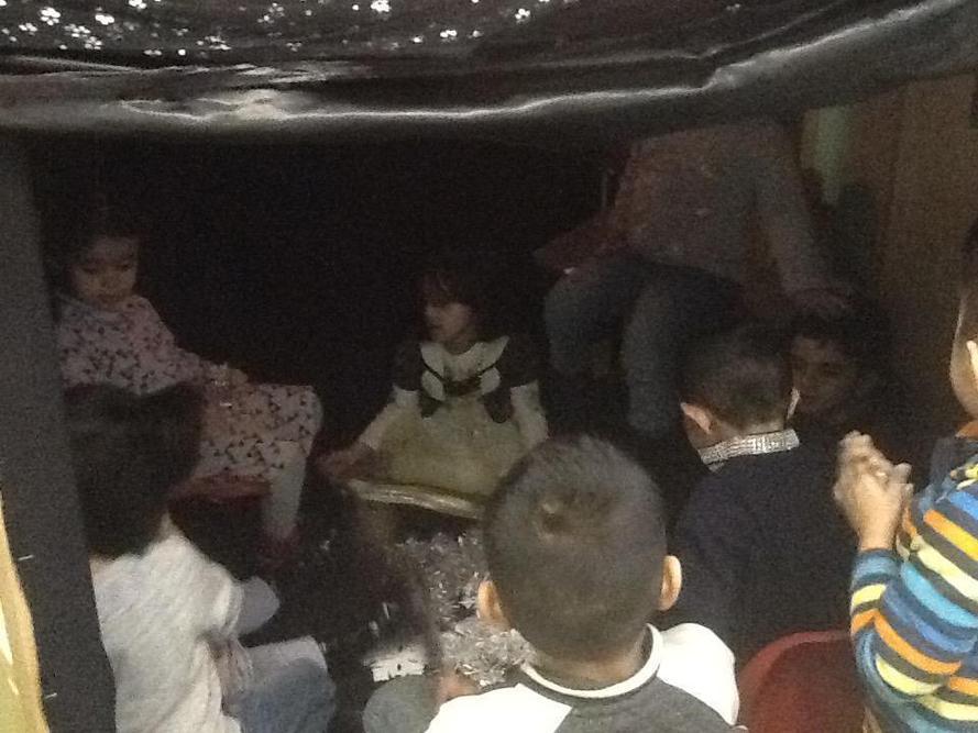 Inside the sensory dark tent