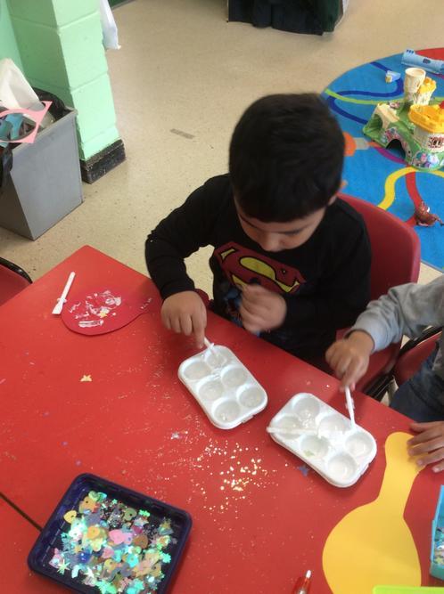 We enjoyed making magic mirrors.