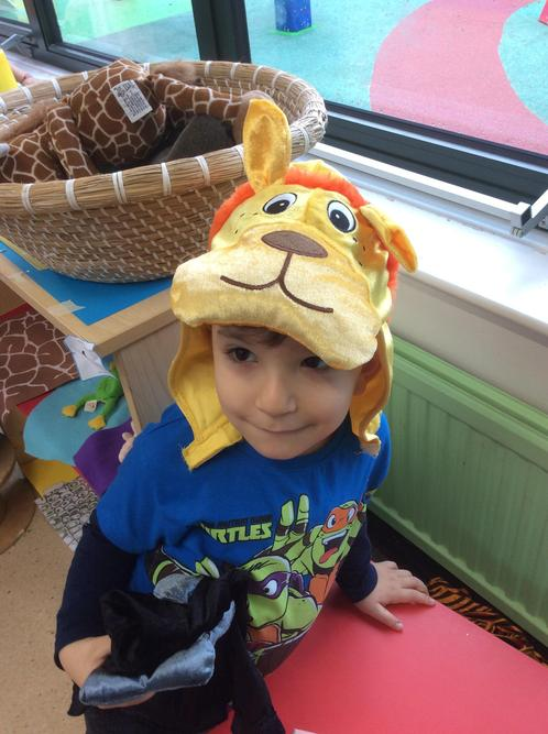 The lion escaped from the zoo!