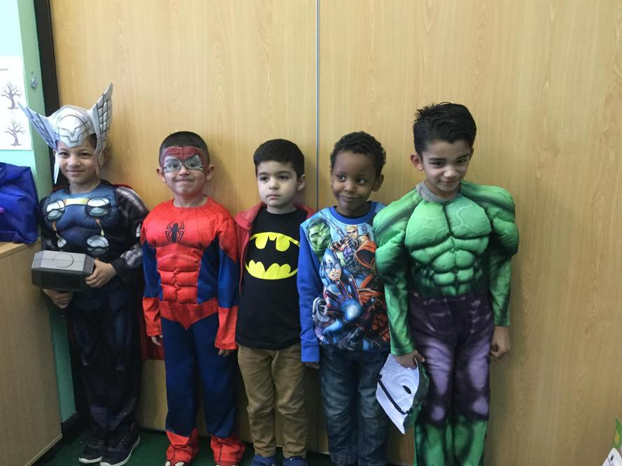 We love Comic book characters in 1W