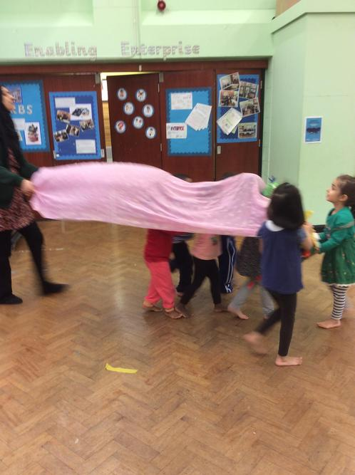We worked together and enjoyed our lion dancing.