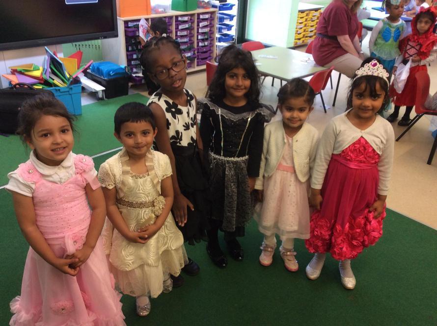 Lots of beautiful princesses