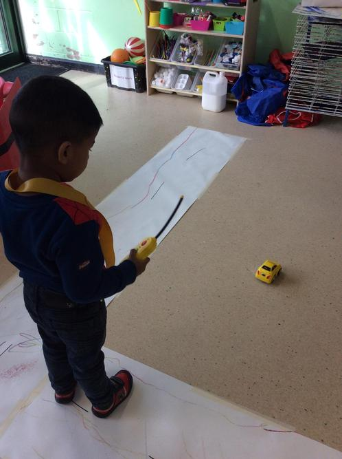 We have been operating remote control cars.