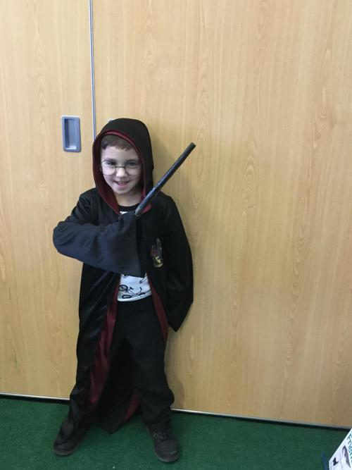 Harry Potter casts a spell!