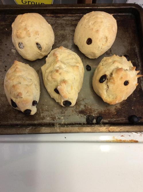 our cooked hedgehogs