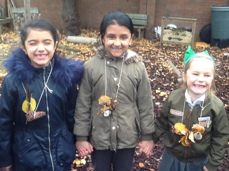 Conkers, pinecones and acorns are very attractive!