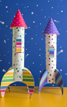 Space rocket craft using recyclable materials