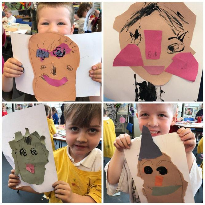 Can you create a self portrait? Have a look in the mirror and talk about the features you