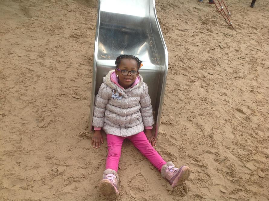 Oops! The slide is slippery!