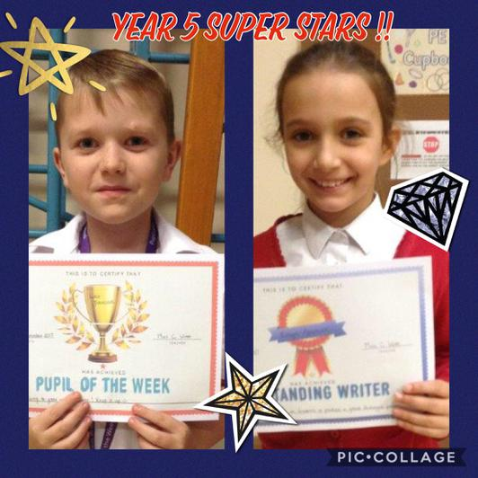 Congratulations to our super year 5's this week!