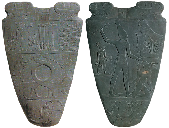 The Narmer Palette (front and back)