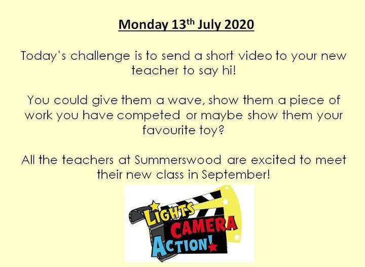 Send your videos to your current teacher and they will forward them on to your new teacher