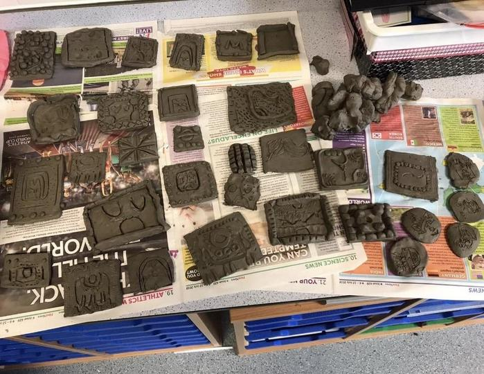 Clay Modelling - Mayan Codices