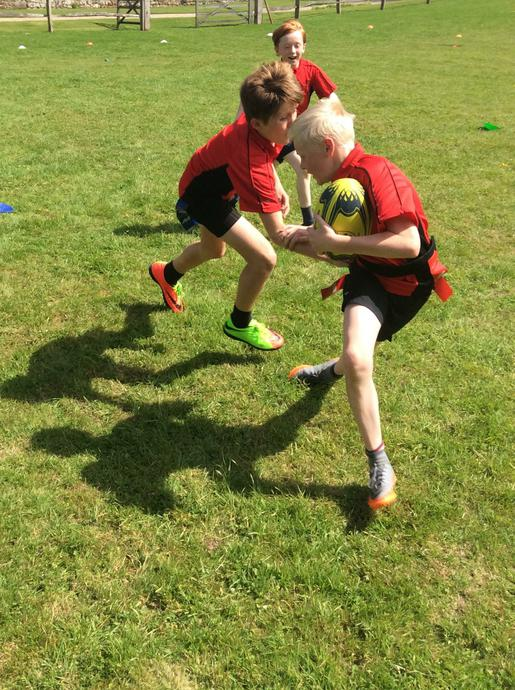 Tag rugby in the Dairy Field
