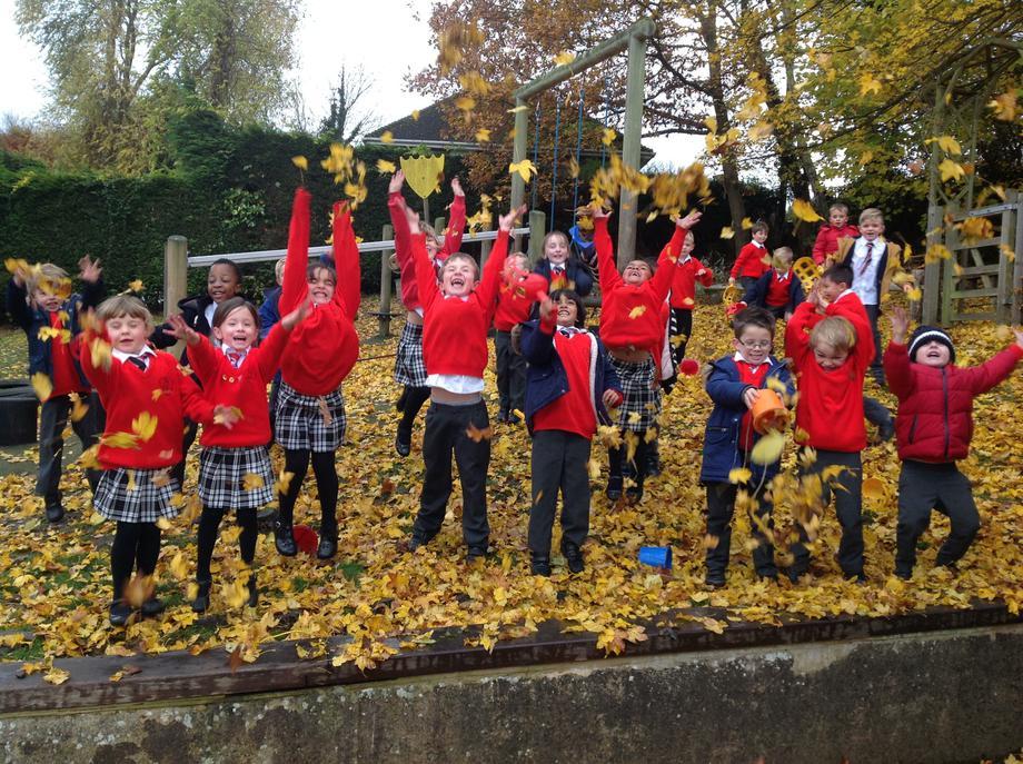 Cedar class enjoying the Autumn!