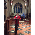 Reading at the Carol Service