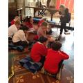 Praying with Headteacher.
