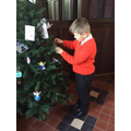 Decorating one of the trees in St Martins