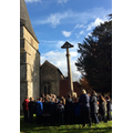 School Remembrance service at War Memorial