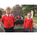 Head Boy and Girl at Remembrance Service