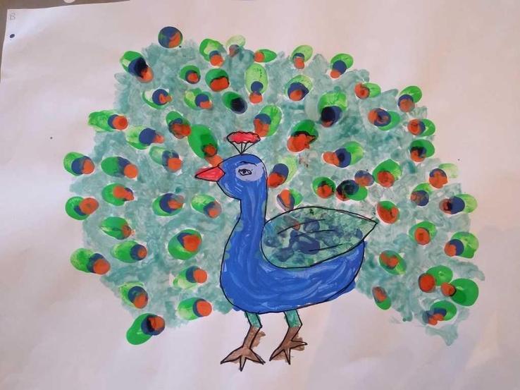 Bonnie's peacock