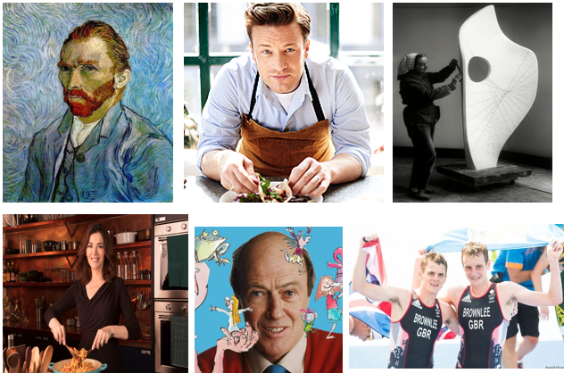 Do you recognise any of these famous individuals? Can you name them?