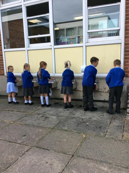 Our new outdoor sinks help us with regular hand washing.