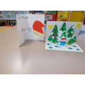 Quinn and Aiden were inspired in our DT lessons and made pop up Christmas cards at home.