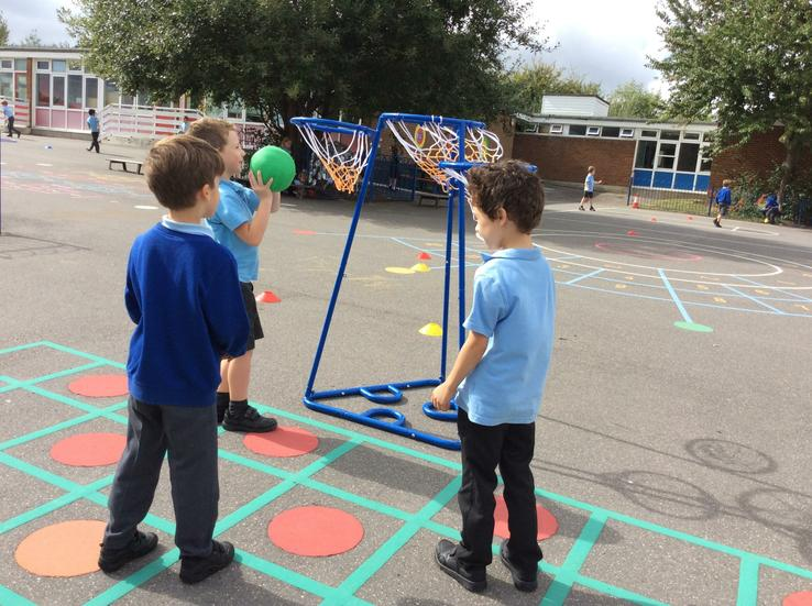 We have developed lots of basketball skills