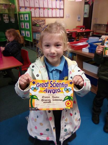 Elodie completed the Crest Science Award.